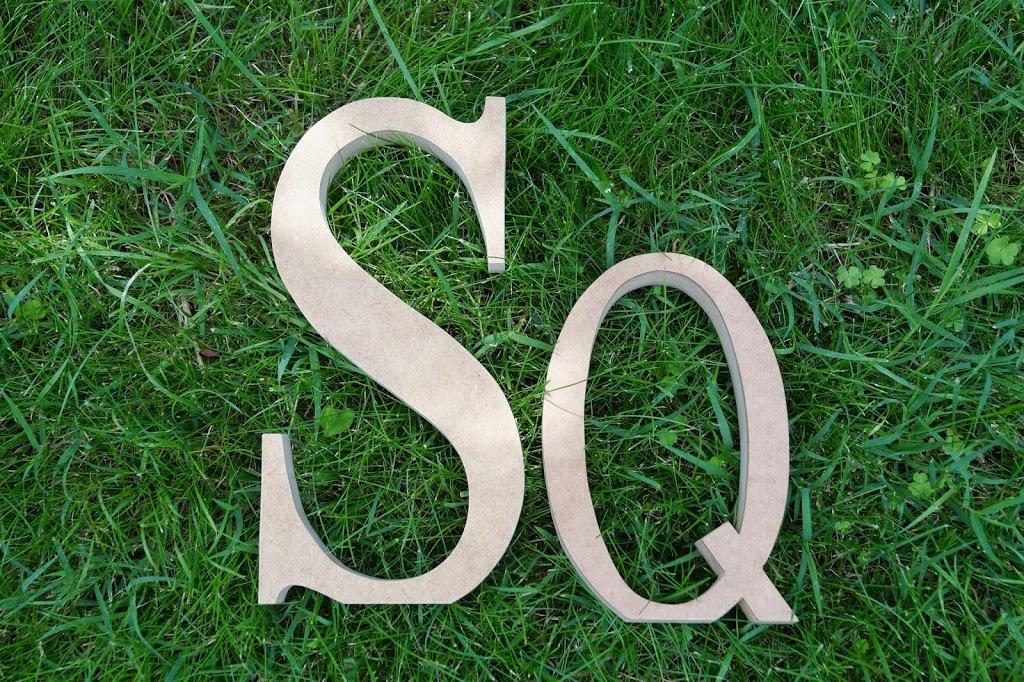 Unas letras de madera decorativas muy especiales - Blog de Cestaland