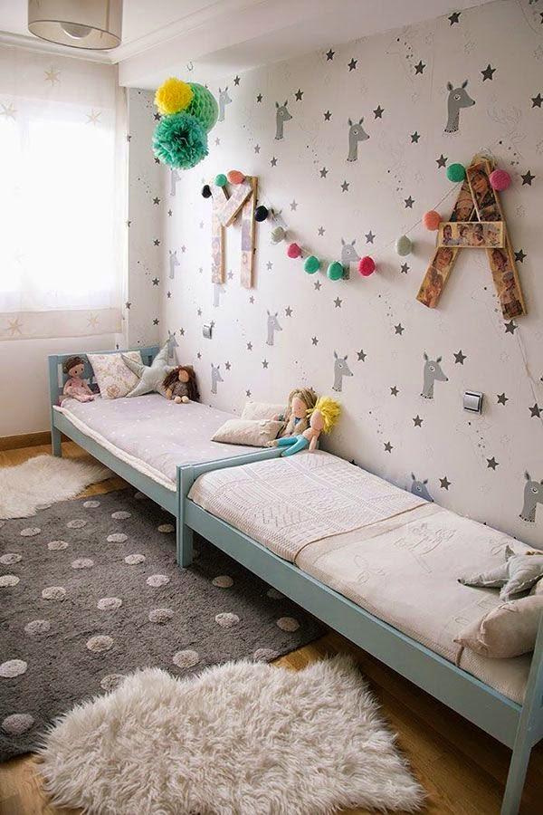 Decorar con papel pintado las habitaciones infantiles - Habitaciones con papel pintado ...