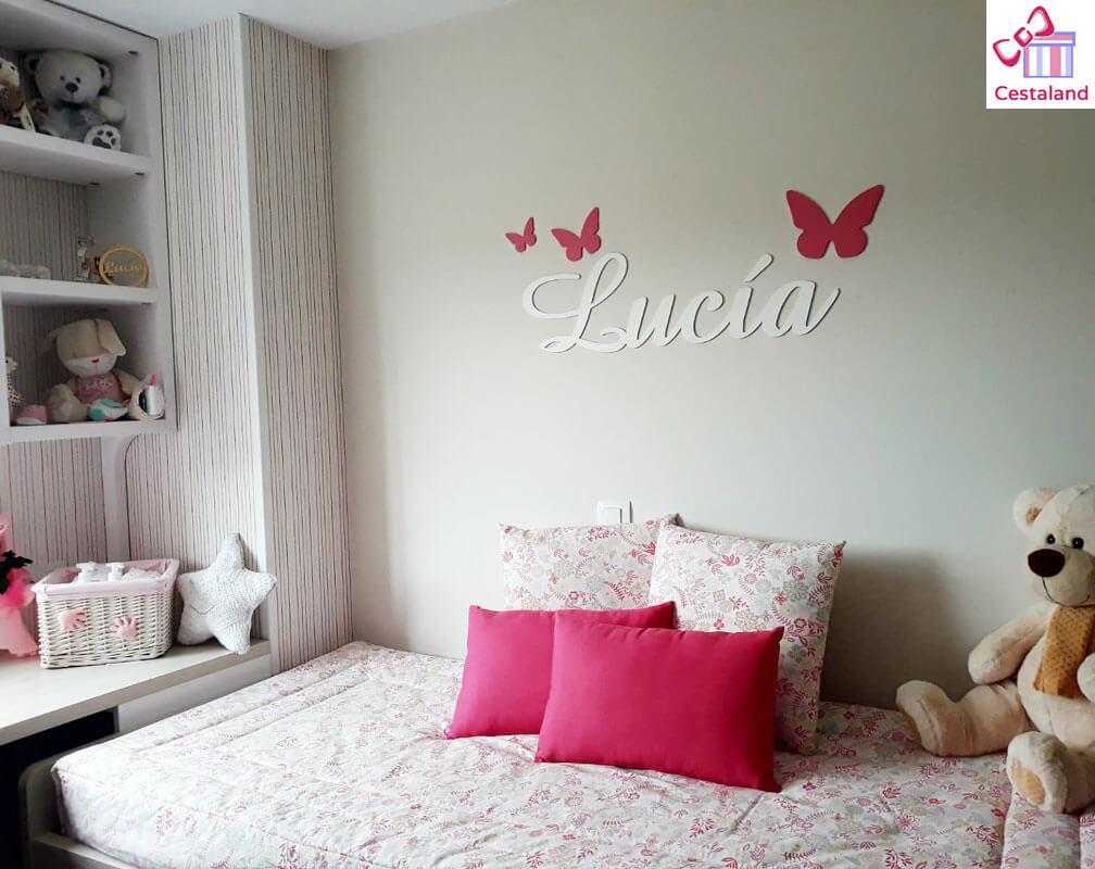 decorar con letras de madera Lucía