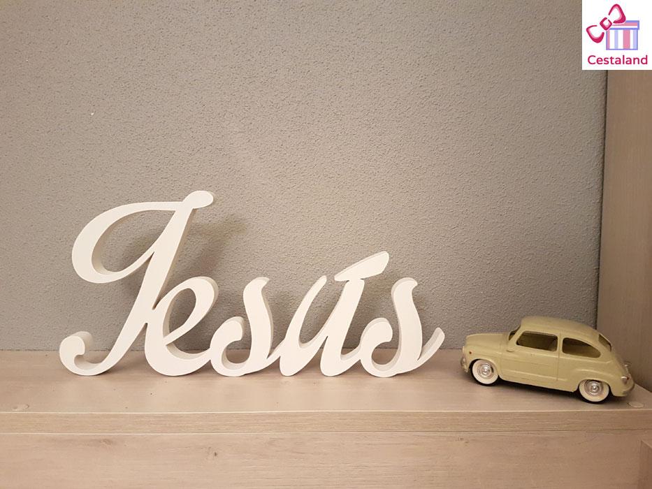 letrero madera nombre niño Jesús