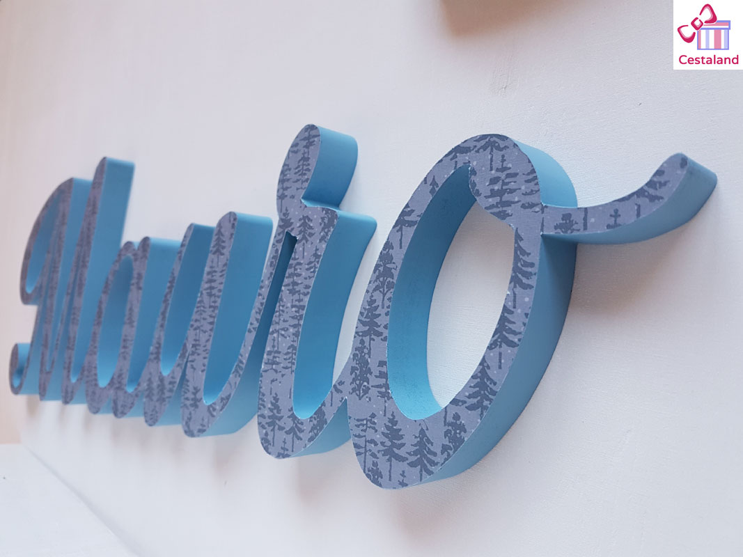 acabado letras de madera. Letras decorativas de madera