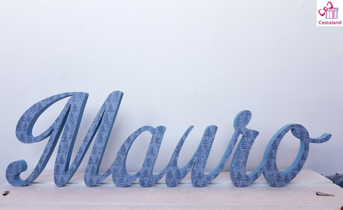 letras decoradas. Comprar letras decorativas personalizadas Mauro
