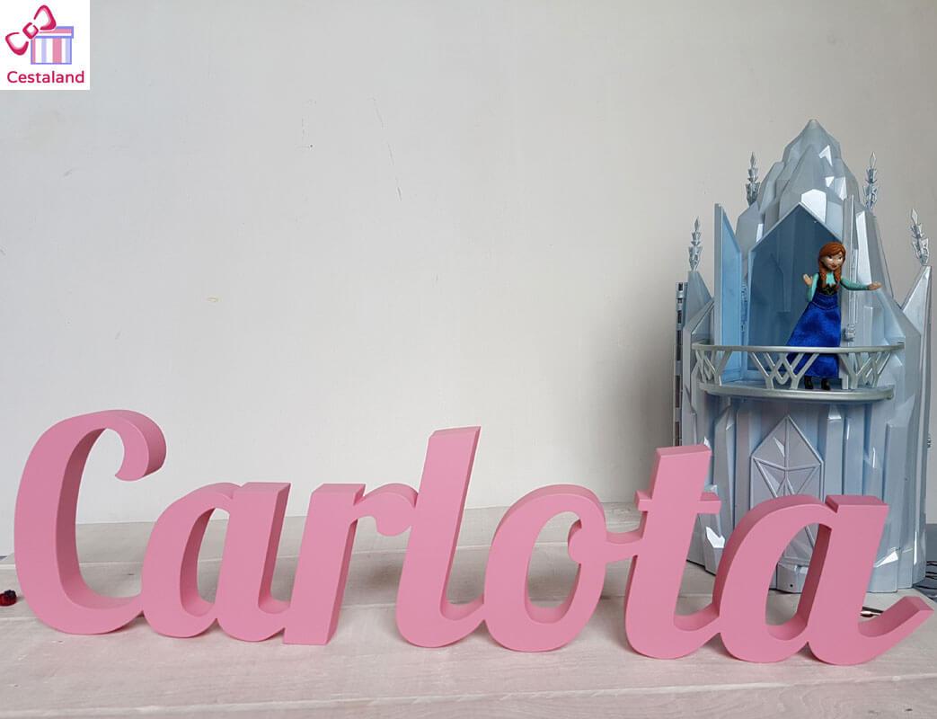 letras madera Carlota