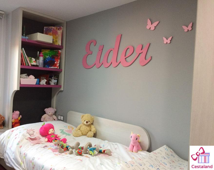 letras decorar habitacion niña Eider