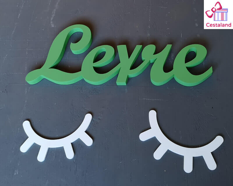letras madera pared Leyre