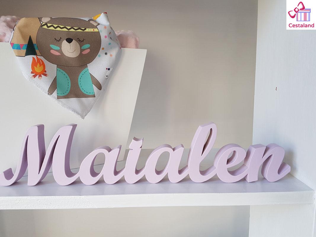 letrero nombre infantil. Letras para bebés Maialen