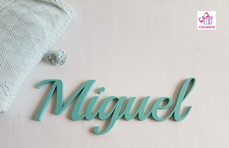 letrero Nombre Miguel