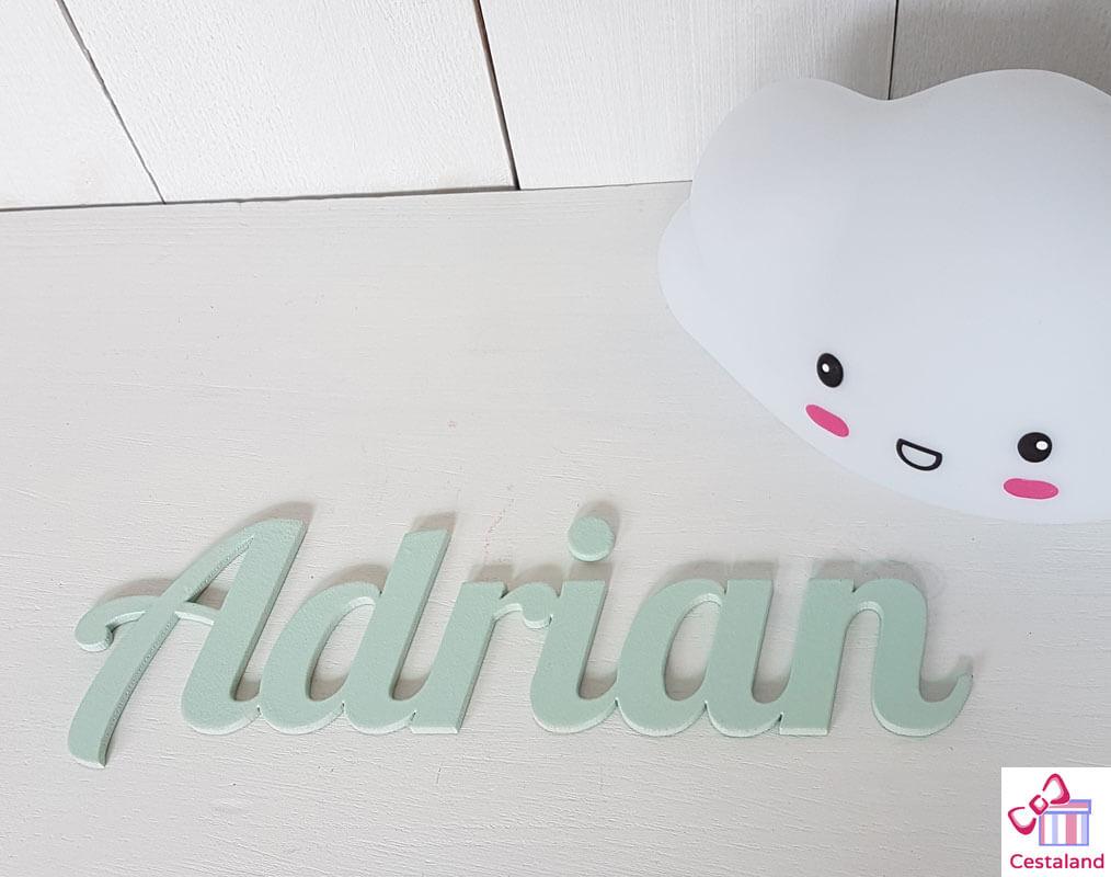 letras Adrián Mint madera