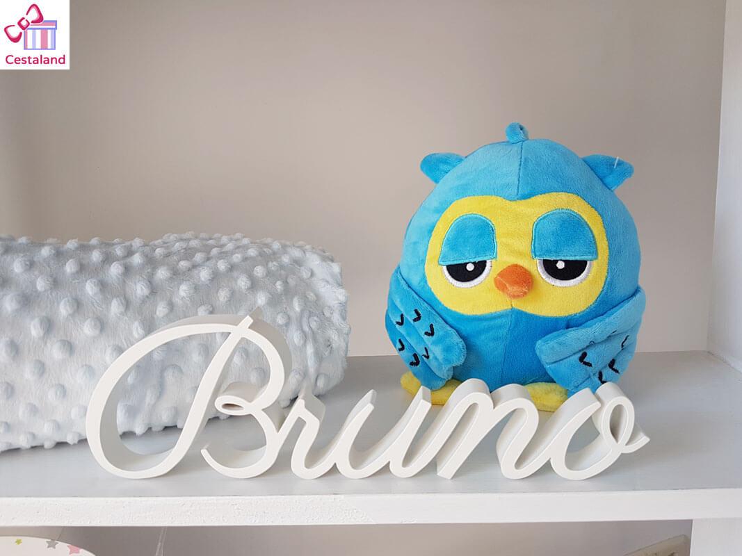 letrero sobremesa madera nombre Bruno
