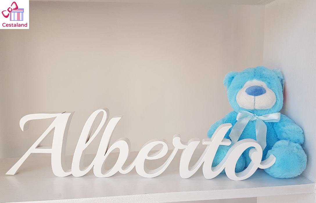 letras letrero nombre Alberto