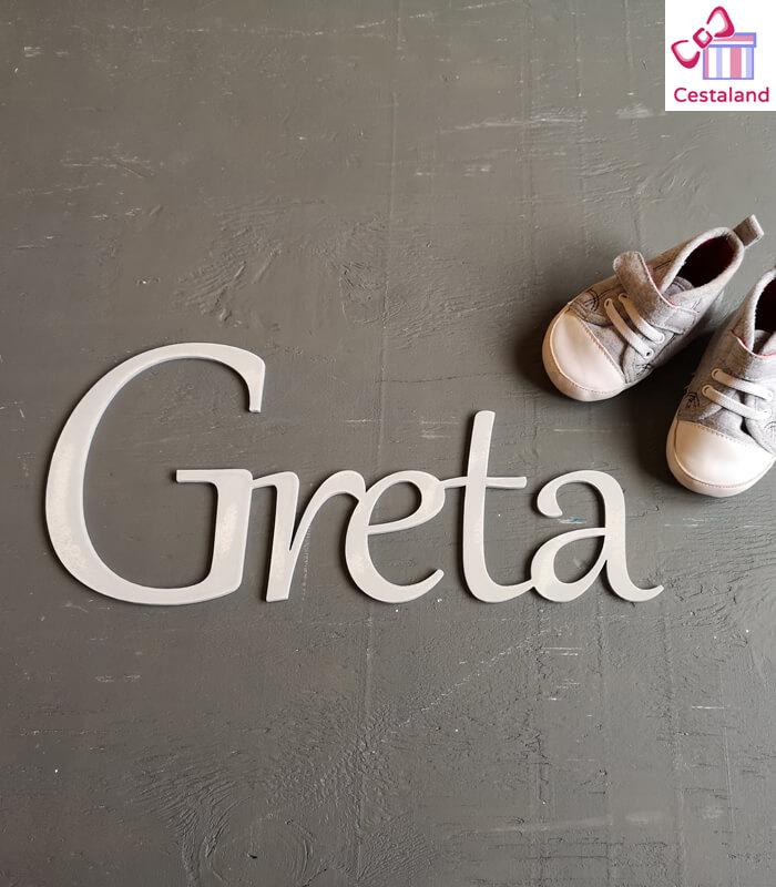 Letras para puerta o letras para pared Greta