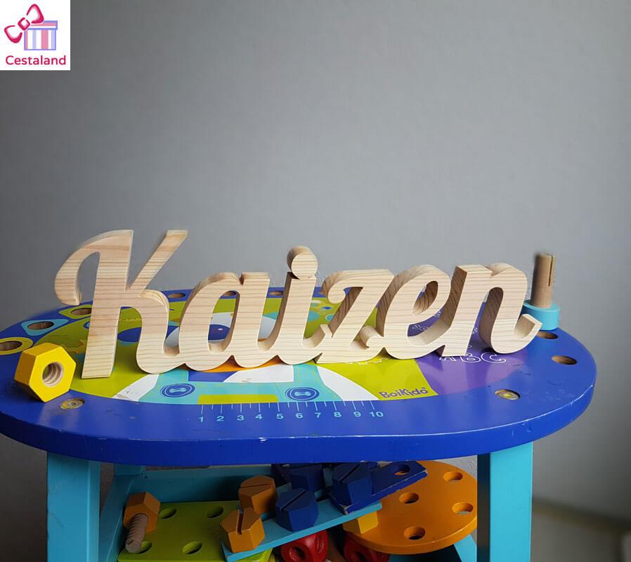 letras madera natural Kaizen