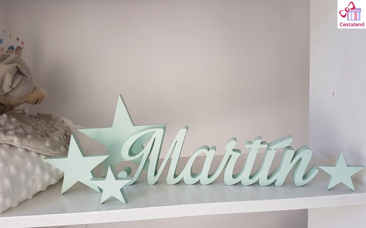 letrero Martín con estrellas Mint