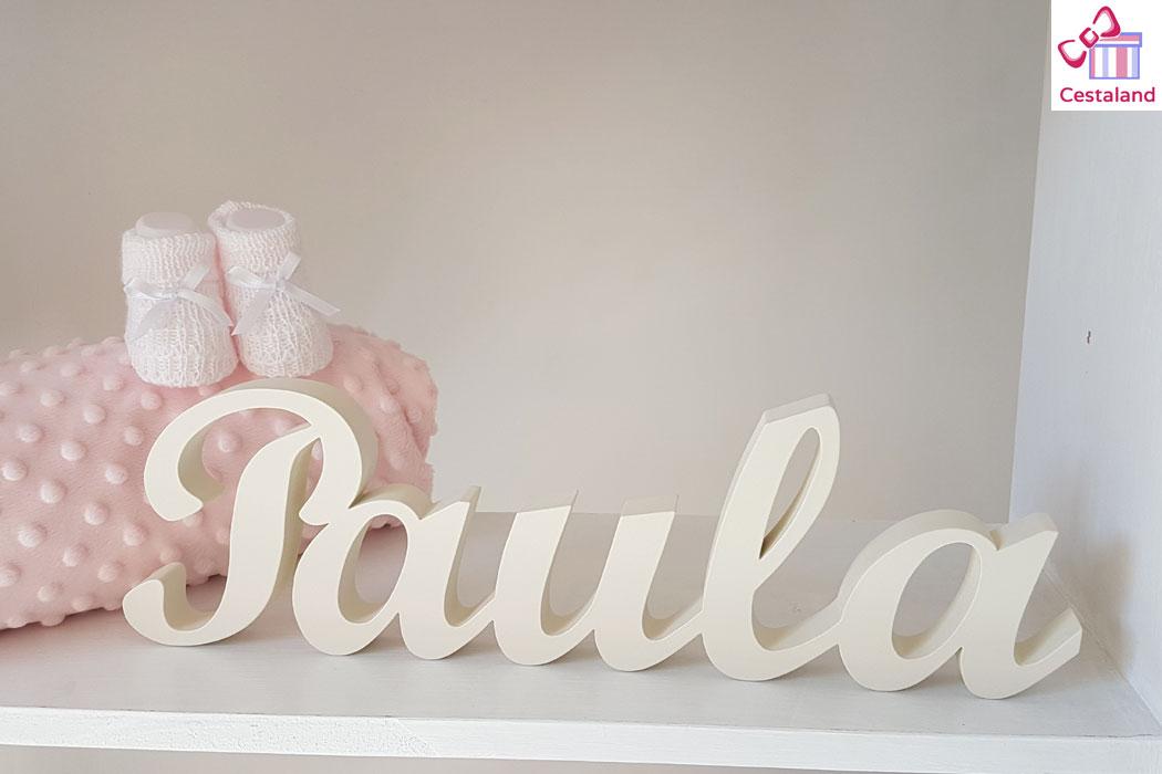 letras madera niña blanco roto Paula