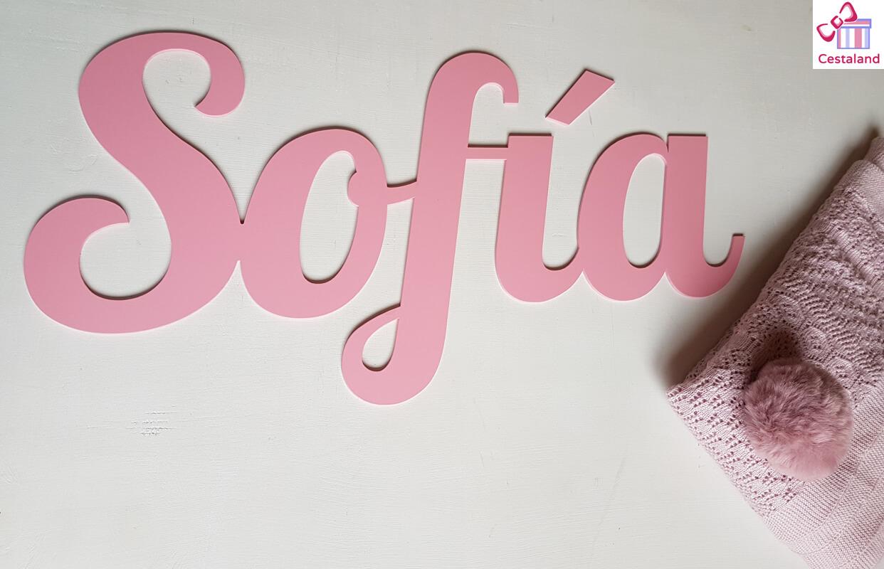nombre madera para pared niña Sofía