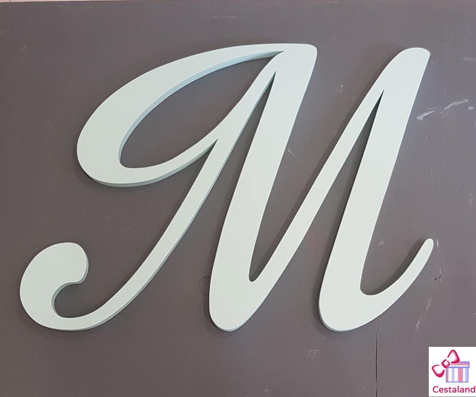 letras madera iniciales grandes
